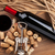 red wine bottle glass corks and corkscrew view from above stock photo © karandaev