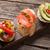 toast sandwiches with avocado tomatoes salmon stock photo © karandaev