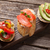 saumon · avocat · salsa · grillés · tomate · délicieux - photo stock © karandaev