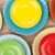 renkli · plakalar · beyaz · ahşap · masa · bo · gıda - stok fotoğraf © karandaev