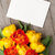 colorful tulips bouquet and blank greeting card stock photo © karandaev