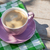 mor · kahve · fincanı · ahşap · masa · stok · fotoğraf · kâğıt - stok fotoğraf © karandaev