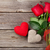 red roses and valentines day hearts stock photo © karandaev