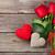 belo · rosas · caixa · de · presente · corações · romântico · dom - foto stock © karandaev