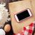 tavolo · da · cucina · ingredienti · telefono · smartphone · schermo - foto d'archivio © karandaev