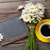 blackboard for your text flowers and coffee stock photo © karandaev