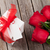 rosas · vermelhas · caixa · de · presente · preto · flor · textura · aniversário - foto stock © karandaev