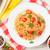 spaghetti pasta with tomatoes and parsley stock photo © karandaev