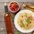 spaghetti pasta and and white wine stock photo © karandaev
