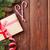 Noel · hediye · kutusu · ahşap · kar · görmek - stok fotoğraf © karandaev