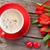 tatlı · çörek · kalp · şeker · kahve · ahşap · masa - stok fotoğraf © karandaev