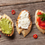 brinde · sanduíches · topo · ver · comida - foto stock © karandaev