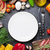 lege · plaat · koken · ingrediënten · groenten · vis - stockfoto © karandaev