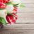kolorowy · tulipany · bukiet · koszyka · czerwony · biały - zdjęcia stock © karandaev