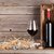 red wine bottle and wine glasses stock photo © karandaev