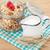 desayuno · muesli · bayas · leche · mesa · de · madera · madera - foto stock © karandaev