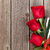 valentines day roses bouquet and champagne glasses stock photo © karandaev