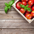 fresh ripe garden tomatoes and basil stock photo © karandaev