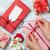 Navidad · café · vista · femenino · manos · alegre - foto stock © karandaev
