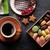 Кубок · кофе · пластина · деревянный · стол · шоколадом - Сток-фото © karandaev