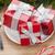 gift boxes on plate fir tree and christmas decor stock photo © karandaev