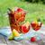 rode · wijn · gemengd · oranje · appel · mango - stockfoto © karandaev