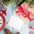 Noel · tebrik · kartı · ahşap · kar · çalar · saat - stok fotoğraf © karandaev