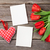 red tulips blank photo frames and heart stock photo © karandaev