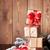christmas gift boxes and tree branch stock photo © karandaev