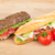 fresh sandwiches with meat and vegetables and tomatoes stock photo © karandaev