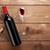vörösbor · üveg · üveg · bor · dugóhúzó · felülnézet - stock fotó © karandaev