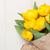 üst · görmek · sarı · lale · buket · beyaz - stok fotoğraf © karandaev