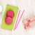 colorful macarons cup of milk and gift box stock photo © karandaev