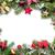 christmas frame with decor and fir tree stock photo © karandaev