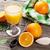 plakje · sinaasappelen · sinaasappelsap · geïsoleerd · witte · ontwerp - stockfoto © karandaev