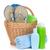 beach items in basket stock photo © karandaev
