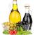 garrafa · azeite · azul · guardanapo · fruto - foto stock © karandaev