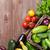 frescos · jardín · hortalizas · mesa · de · madera · superior - foto stock © karandaev