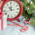 christmas gift box alarm clock candy cane and fir tree stock photo © karandaev