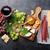 Wine, grape, cheese, sausages stock photo © karandaev