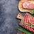 crudo · carne · salchichas · tocino · superior · vista - foto stock © karandaev