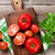 fresh ripe garden tomatoes stock photo © karandaev