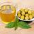 macro · fresco · azeitonas · azeite · branco · comida - foto stock © karandaev