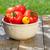 fresche · maturo · giardino · pomodori · basilico · pietra - foto d'archivio © karandaev