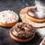 kleurrijk · donuts · steen · tabel · papier · voedsel - stockfoto © karandaev