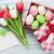 húsvéti · tojások · rózsaszín · doboz · durva · szöveg · sapka - stock fotó © karandaev