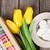 kleurrijk · koffiekopje · Geel · tulpen · cookies · boeket - stockfoto © karandaev