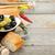 Italiaans · eten · voorgerechten · olijven · brood · olijfolie · specerijen - stockfoto © karandaev