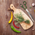 groene · knoflook · bos · houten · textuur · keuken - stockfoto © karandaev
