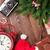 karácsony · ajándék · doboz · ébresztőóra · cukorka · sétapálca · fenyőfa - stock fotó © karandaev
